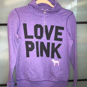 PINK Victoria's Secret half zip pullover purple